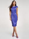 Платье-футляр с вырезом-лодочкой oodji для женщины (синий), 11902163-1/32700/7500N - вид 2