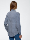 Блузка прямого силуэта с нагрудным карманом oodji для женщины (синий), 11411134B/46123/7912G - вид 3