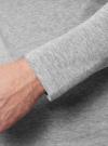 Футболка с длинным рукавом и V-образным вырезом oodji для мужчины (серый), 5B511002M/39086N/2300M - вид 5