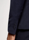 Пиджак приталенный на пуговице oodji для мужчины (синий), 2L410205M/46813N/7500O - вид 5