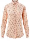 Блузка прямого силуэта с нагрудным карманом oodji для женщины (розовый), 11411134B/46123/4029G