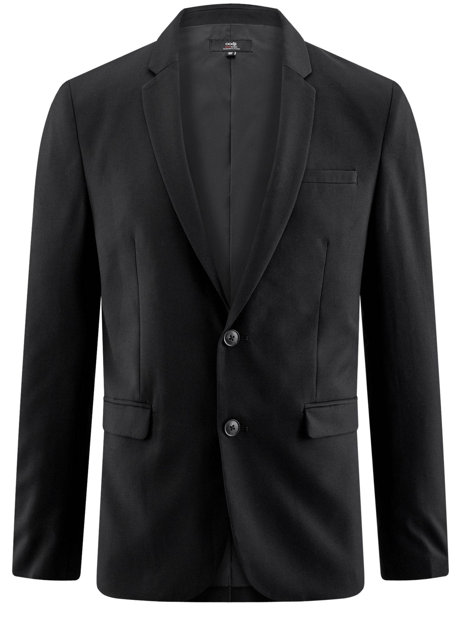 Пиджак классический oodji для мужчины (черный), 2B420016M/46317N/2900N