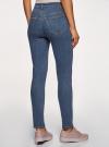 Джинсы skinny с высокой посадкой oodji для женщины (синий), 12104065-1B/46734/7500W - вид 3