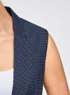 Жилет классический из фактурной ткани oodji для женщины (синий), 12300099-6/46373/7912D - вид 5