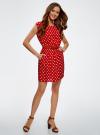 Платье принтованное из вискозы oodji для женщины (красный), 11910073-2/45470/4512D - вид 6