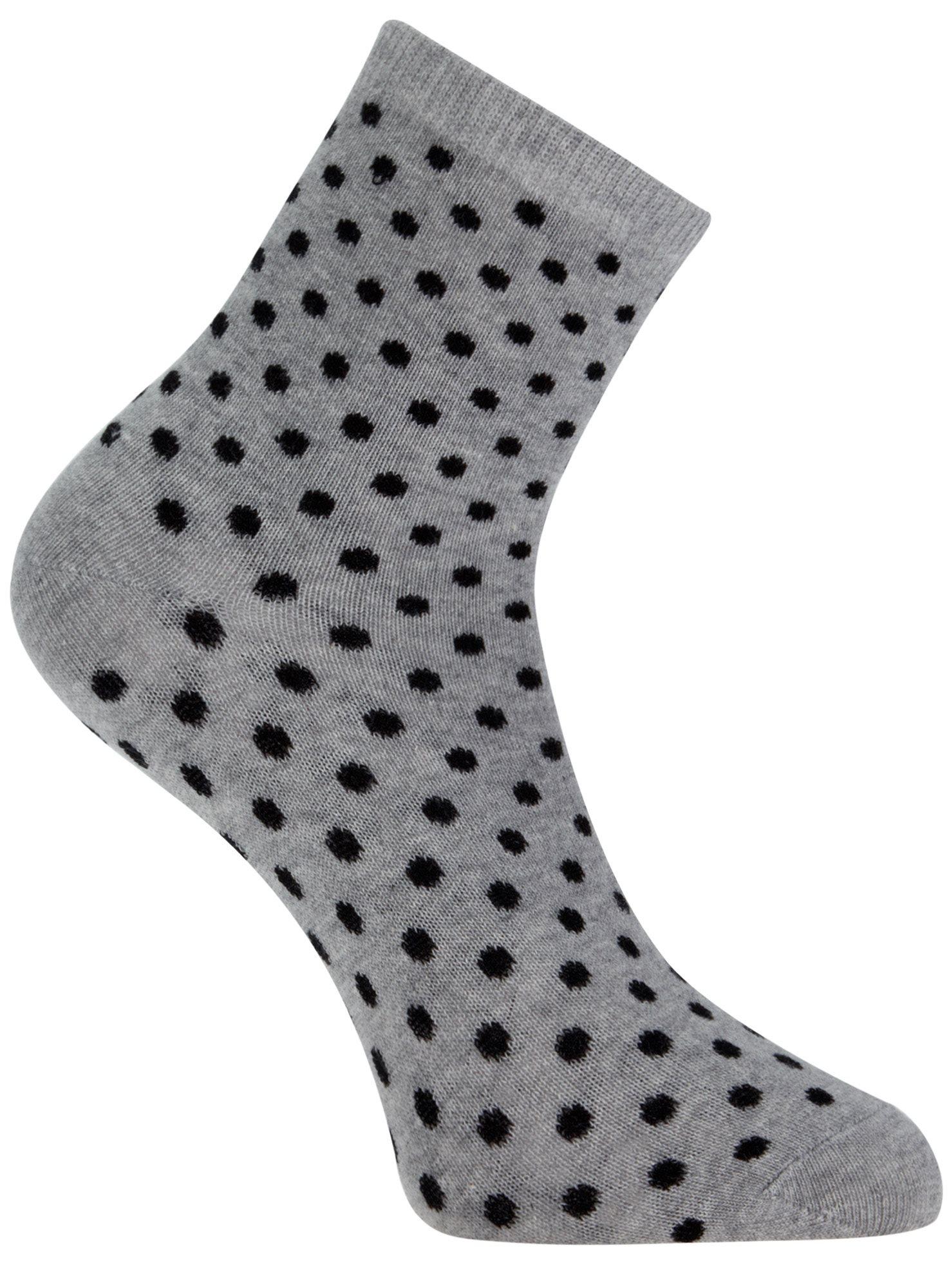 Носки базовые хлопковые oodji для женщины (серый), 57102466B/47469/2029D