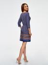 Платье вискозное с рукавом 3/4 oodji для женщины (синий), 11901153-2B/42540/7949G - вид 3