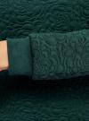 Свитшот базовый из фактурной ткани oodji для женщины (зеленый), 24801010-4/42316/6E00N - вид 5