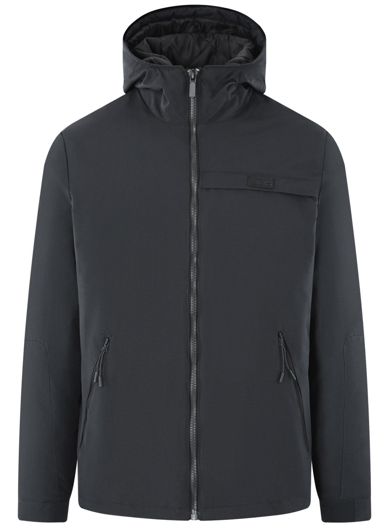 Куртка на молнии с капюшоном oodji для мужчины (синий), 1L515017M/46215N/7929N