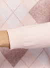 Джемпер вязаный с ромбами oodji для женщины (розовый), 63810238/50083/4035R - вид 5