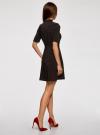 Платье с декоративной отделкой горловины и вставкой из кружева oodji для женщины (черный), 11913033/42250/2900N - вид 3