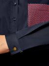 Рубашка базовая с нагрудным карманом oodji для женщины (синий), 11403205-10/26357/7945B - вид 4