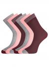 Комплект из шести пар носков oodji для женщины (разноцветный), 57102908T6/15430/3 - вид 2