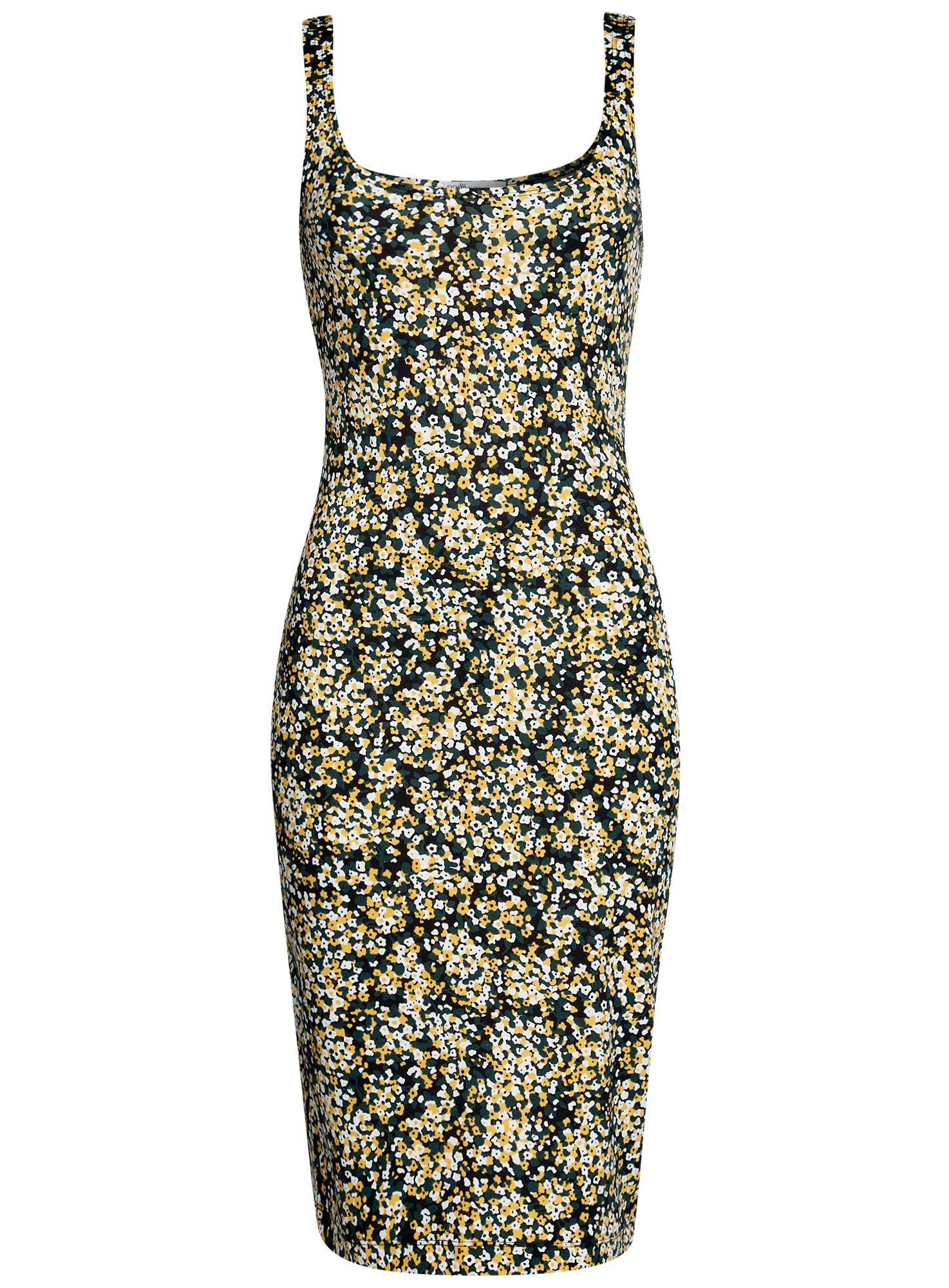 Платье-майка трикотажное oodji для женщины (желтый), 14015007-3B/37809/2912F