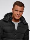 Куртка на молнии с капюшоном oodji для мужчины (черный), 1L112030M/48602N/2900N - вид 4