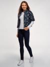 Куртка стеганая принтованная oodji для женщины (черный), 10207002-1/45419/2970F - вид 6