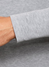 Футболка с длинным рукавом (комплект из 2 штук) oodji для мужчины (серый), 5B512004T2/46737N/2300M - вид 5