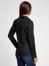 Рубашка базовая с одним карманом oodji для женщины (черный), 11403205-7/26357/2910D - вид 3