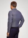 Рубашка приталенная из хлопка oodji для мужчины (синий), 3L110354M/49029N/7910O - вид 3
