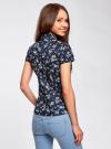 Блузка принтованная из легкой ткани oodji для женщины (синий), 21407022-9/12836/7952F - вид 3