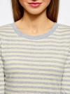 Комплект футболок с длинным рукавом (2 штуки) oodji для женщины (серый), 14201005T2/46158/2050S - вид 4