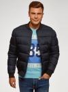 Куртка стеганая на заклепках oodji для мужчины (синий), 1L511077M/48733N/7900N - вид 2