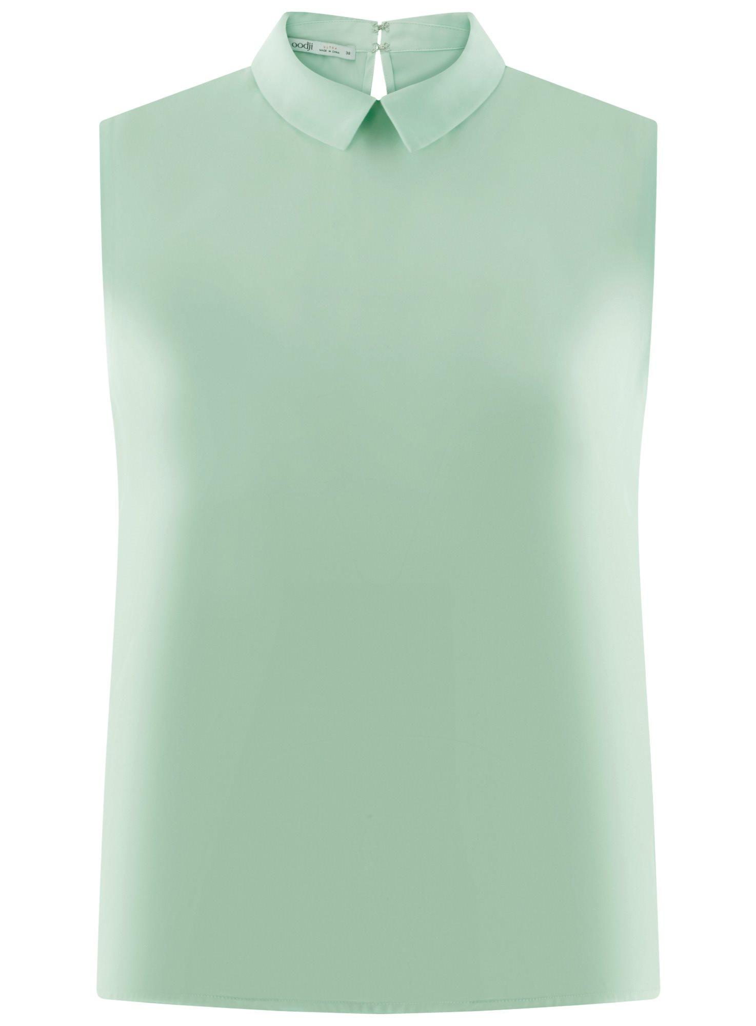 Топ базовый из струящейся ткани oodji для женщины (зеленый), 14911006-2B/43414/6500N