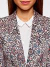 Жакет приталенный базовый oodji для женщины (розовый), 21203064-5B/14522/4175E - вид 4
