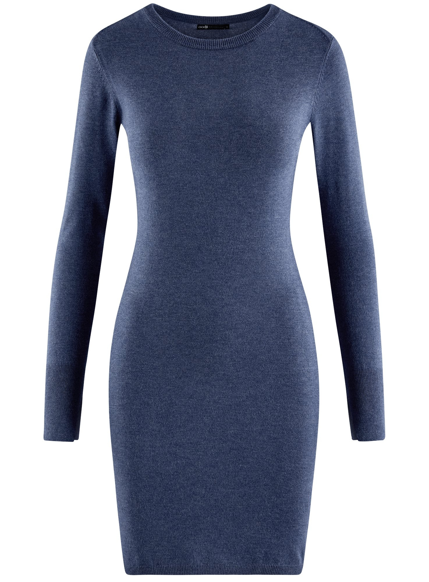 Платье вязаное базовое oodji для женщины (синий), 73912217-2B/33506/7500M