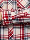 Рубашка в клетку с карманами oodji для женщины (красный), 11411052/42850/4533C - вид 5