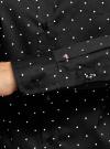 Рубашка базовая с одним карманом oodji для женщины (черный), 11403205-7/26357/2910D - вид 5
