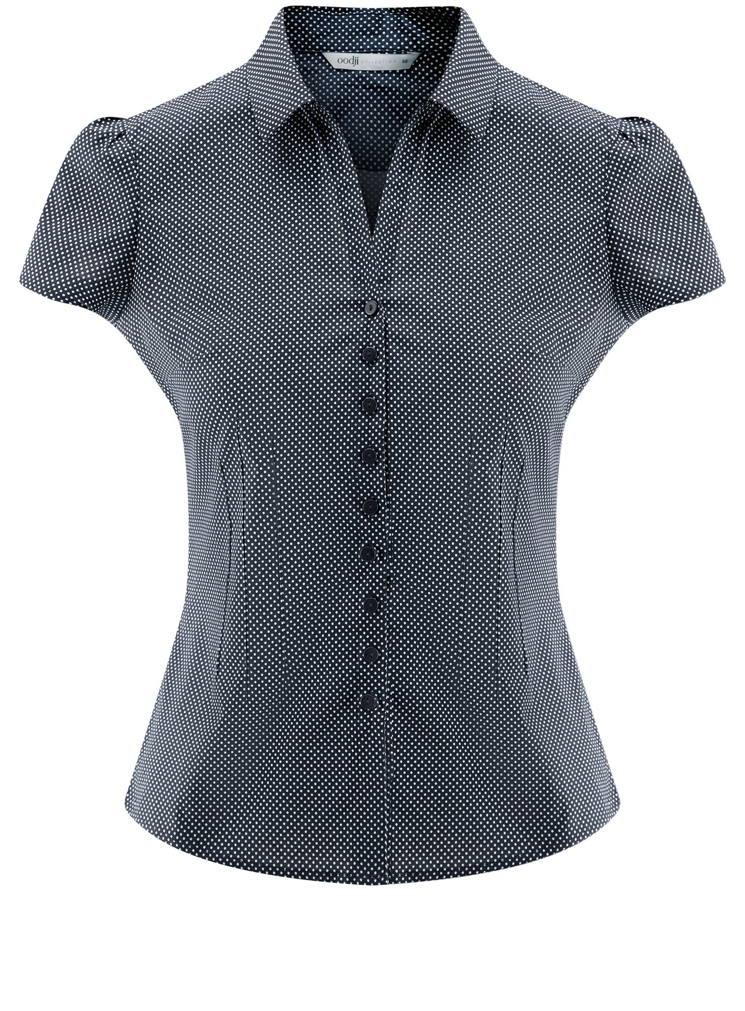 Блузка принтованная из легкой ткани oodji для женщины (синий), 21407022-9/12836/7910D
