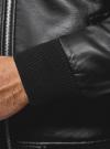Куртка из искусственной кожи на молнии oodji для мужчины (черный), 1L511061M/48591N/2900N - вид 5