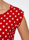 Платье принтованное из вискозы oodji для женщины (красный), 11910073-2/45470/4512D - вид 5