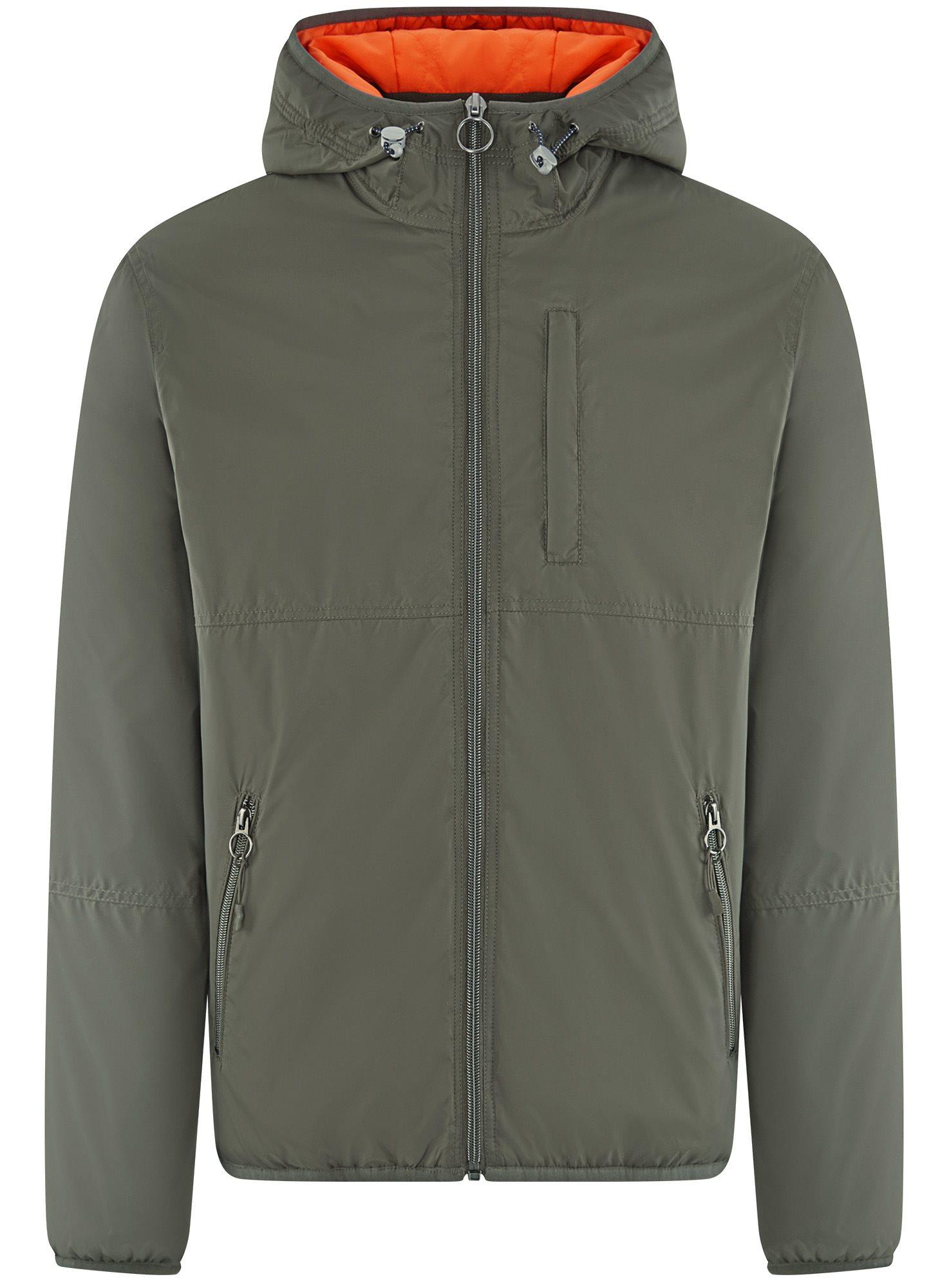 Куртка утепленная с капюшоном oodji для мужчины (зеленый), 1L512022M/44334N/6600N