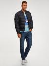 Куртка стеганая на заклепках oodji для мужчины (синий), 1L511077M/48733N/7900N - вид 6