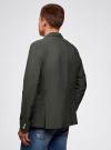 Пиджак приталенный с накладными карманами oodji для мужчины (зеленый), 2B510005M/39355N/6600N - вид 3