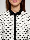 Блузка базовая из струящейся ткани oodji для женщины (белый), 11400368-7B/43414/1229O - вид 4