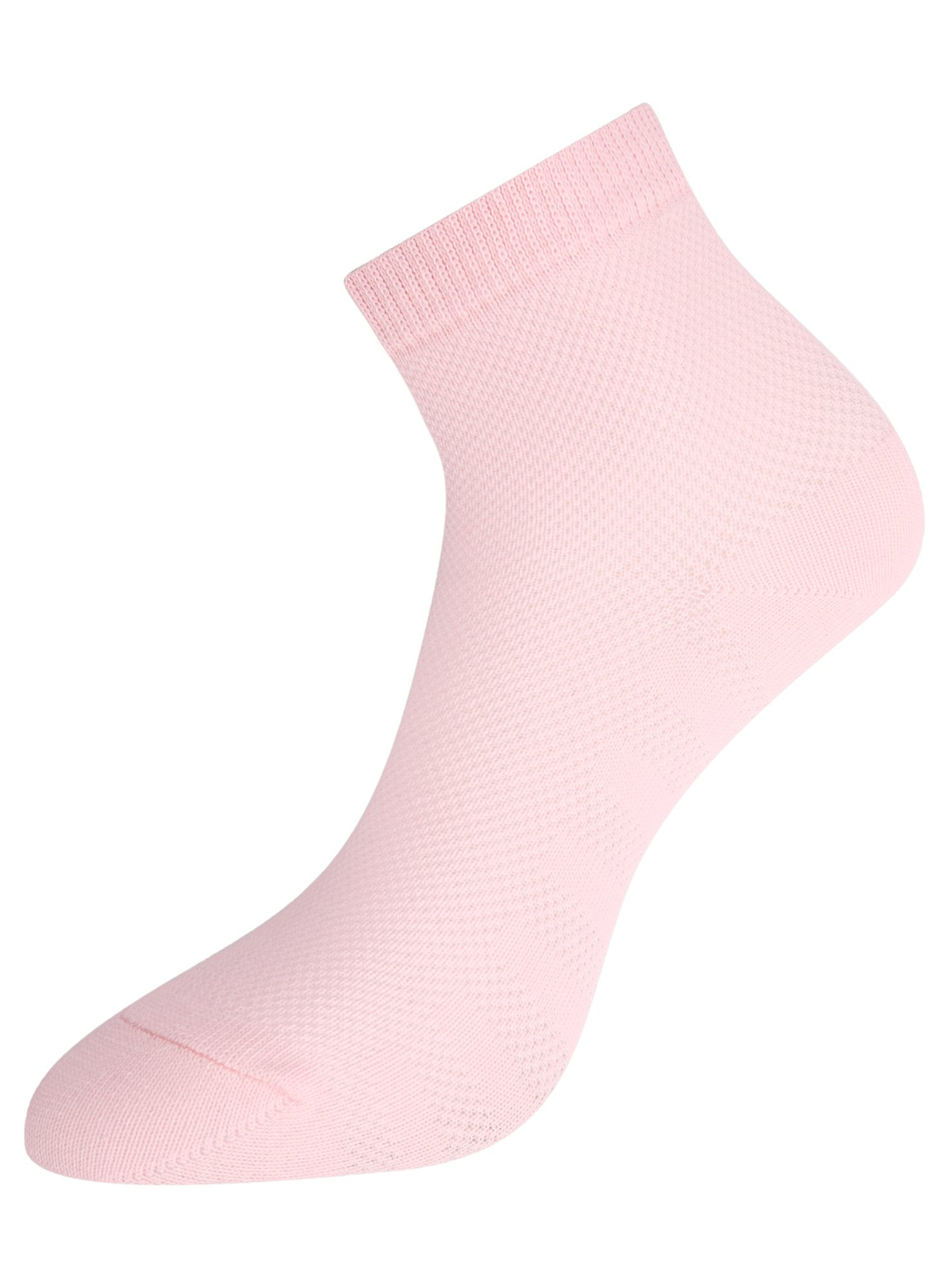 Комплект из трех пар хлопковых носков oodji для женщины (розовый), 57102711T3/48022/5