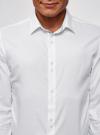 Рубашка базовая из фактурной ткани oodji для мужчины (белый), 3B110020M-1/48379N/1000N - вид 4
