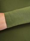 Футболка с длинным рукавом (комплект из 3 штук) oodji для женщины (зеленый), 24201007T3/46147/6900N - вид 5