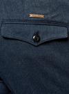 Брюки хлопковые slim fit oodji для мужчины (синий), 2L210173M/44324N/7900O - вид 5