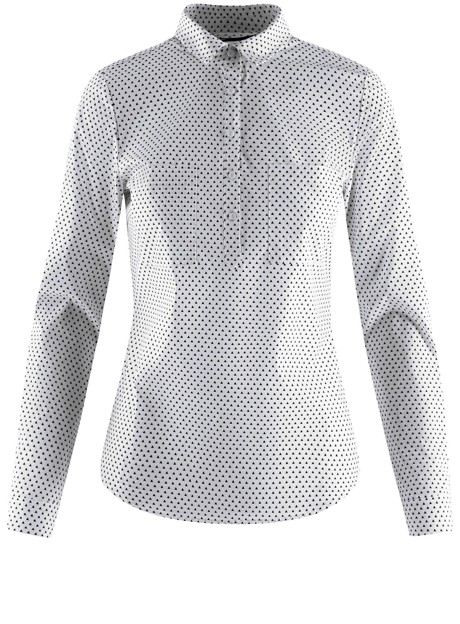 Рубашка базовая с нагрудными карманами oodji для женщины (белый), 11403222B/42468/1029G