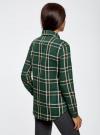 Рубашка в клетку с нагрудными карманами oodji для женщины (зеленый), 11411052-2/45624/6912C - вид 3
