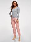 Пижама хлопковая с брюками oodji для женщины (разноцветный), 56002226/46154/2041E - вид 6