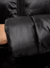 Куртка стеганая с воротником-стойкой oodji для женщины (черный), 10203031-1/18268/2900N - вид 5
