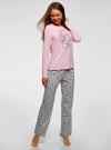 Джемпер прямого силуэта с принтом oodji для женщины (розовый), 59811012-2/24336/4075P - вид 6