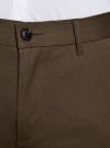 Брюки-чиносы хлопковые oodji для мужчины (коричневый), 2B200015M/21822N/3700N - вид 4