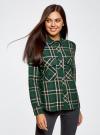 Рубашка в клетку с нагрудными карманами oodji для женщины (зеленый), 11411052-2/45624/6912C - вид 2