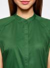 Рубашка с коротким рукавом из хлопка oodji для женщины (зеленый), 11403196-3/26357/6E00N - вид 4